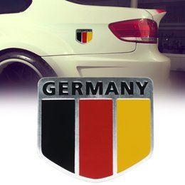 Badge flag online shopping - 3D Metal Germany German National Flag Badge Car Emblem Sticker Racing Sports Decal for VW Car Accessories