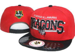 Dragon Snapback NZ - 2019 NRL St George Illawarra hat Dragons hat Snapback Hip-Hop Snapbacks Adult Baseball Adjustable Caps Embroidery hats Free Shipping