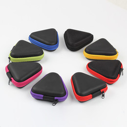 $enCountryForm.capitalKeyWord Australia - Triangle Multi color Fidget Spinner Pouch Hand Spinner Toys Bluetooth Headset Storage Bags Compressive Container Portable Cases