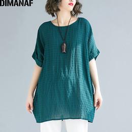 $enCountryForm.capitalKeyWord Australia - Dimanaf Plus Size Women T-shirts Basic Lady Tops Tunic Big Size Tees Cotton Linen Loose Casual Female Clothes Solid 2019 Summer Y19042501
