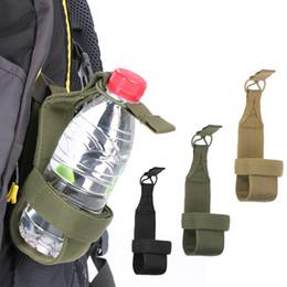 water bottle belt holder 2019 - Lightweight Beer Water Bottle Holder Carrier Pouch Adjustable Belt for Hiking Backpack Outdoor Activities cheap water bo