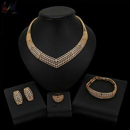 $enCountryForm.capitalKeyWord Australia - Yulaili African Jewelry Sets Nigerian Wedding For Brides Gold Color Crystal Small Leaf Shape Design Necklace Earrings Bracelet Ring