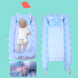 babies bedding sets NZ - Baby CO Sleeping Crib Bed Portable Crib Bassinet Basket Newborn Sleep Bed Baby Travel Bumper Bedding Sets