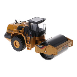 Toy consTrucTion car online shopping - 1 Scale Diecast Metal Road Roller Truck Construction Toy Vehicle for Kid Gift