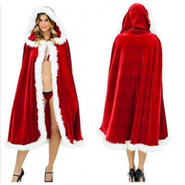 Christmas Cape Ball Christmas Cape Adult Child Red Sexy European and American Boutique Cape Costume from ringneck pheasant tails manufacturers