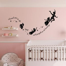 $enCountryForm.capitalKeyWord Australia - Peter Pan Wall Decal Diy Tinker Bell Wall Sticker Removable Peter Pan and Wendy Themed Wall Art for Kids Room Nursery Home Decor