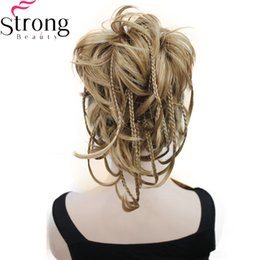 blonde mix ponytail UK - 12 Inch Adjustable Messy Style Ponytail Hair Extension Synthetic Hair-Piece with Jaw Claw COLOUR CHOICES
