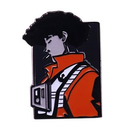 anime collectables figures Australia - Cowboy Bebop Spike smoking brooch anime inspired classic collectable