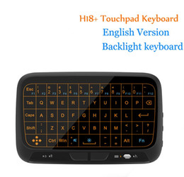 wireless keyboard for linux UK - Latest Mini H18 H18+ Wireless Keyboard 2.4 G Portable Keyboard With Touchpad Mouse for Windows Android Google Smart TV Linux Windows Mac