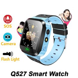 Wholesale 2019 Q527 Child Baby Smart Watch Touch Screen With SOS Call Camera Lighting Phone Positioning Location Children Watch