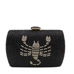 $enCountryForm.capitalKeyWord UK - Scorpion Pattern Crystal Evening Clutch Bags Women's Fashion Minaudiere Handbags Wedding Cocktail Party Purses
