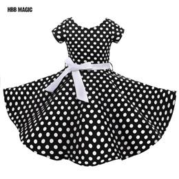 Dot Line Dress Australia - Classy Audrey 1950s Vintage Rockabilly Swing Summer Girls Dress Dots Retro Red,black Girl Party Dress Cotton Kids Princess Dress J190505