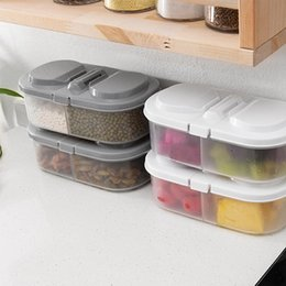 green box containers NZ - Double Grids Kitchen Storage Box Sealing Food Preservation Fresh Pot Container