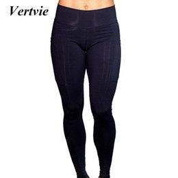$enCountryForm.capitalKeyWord NZ - Vertvie Sexy Women Yoga Pants Leggings Leggings Sportswear Pants For Fitness Side Mobile Pocket Yoga High Waist Elastic