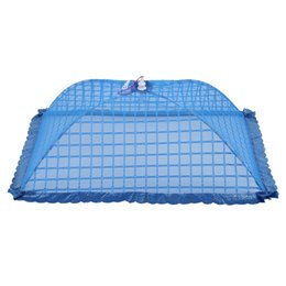 tent fly UK - Set of 1 Square Mesh Screen Umbrella Food Cover Net Tents Reusable and Folding 72x51cm for Picnic BBQ - Keep Out Flies, Bugs, Mo
