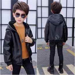 $enCountryForm.capitalKeyWord Australia - 2019 New Autumn Winter Fashion Children Boys Coats Kids Boys Plus Velvet Warm Hooded Outwear Teenage Faux Leather Jackets