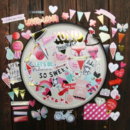 stickers for scrapbooking Australia - crapbooking Stamping Stickers KSCRAFT 60pc Happy Valentine's Day Cardstock Die Cuts for Scrapbooking Happy Planner Card Making Journaling...