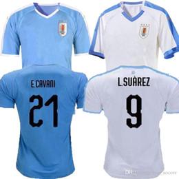 National Football Jerseys NZ - new 2019 Copa America Uruguay Soccer Jersey 19 20 Home 9 L.suarez 21 E.cavani Soccer Shirt #3 D.GODIN Away National Team Football Uniforms