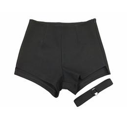 $enCountryForm.capitalKeyWord UK - Summer Shorts Women High Waist Sweatpants Rave Fitness Short Feminino Booty Shorts Sexy Korean Hotpants Black Shorts 50f0099 J190430