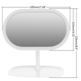 Rotating Touch Screen Australia - 360 degree Rotating Touch Screen Cosmetic Makeup Mirror Tabletop With LED Light Travel