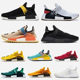 $enCountryForm.capitalKeyWord Australia - Trainers 2019 pharrell williams Nerd Black Pale Nude human race Womens Running shoes Grey Oreo Tripler White Men Sports Sneakers Size 36-47
