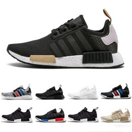 a4b023710484e 2019 NMD R1 Primeknit men women Running Shoes OG Classic Japan Triple Black  white Beige Oreo Runner Athletic Sports trainer Sneakers 36-45