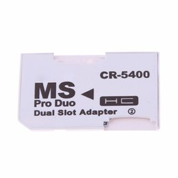 $enCountryForm.capitalKeyWord Australia - High Quality Dual Micro SD TF to Memory Stick MS Pro Duo Adapter CR-5400 CR5400 For PSP Card Dual 2 Slot Adapter 1000