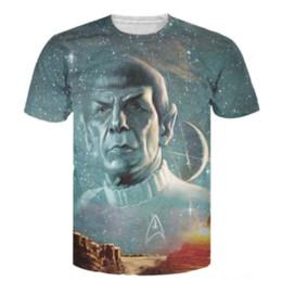 China New Star Trek Spock Galaxy 3d print woman man T-shirt round neck short sleeve shirt unisex t-shirts plus size S-5XL supplier star trek spock suppliers