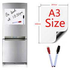 Pen Boards UK - Magnetic Whiteboard A3 Size 297x420mm Fridge Magnets Presentation Boards Home Kitchen Message Boards Writing Sticker 2 Pen