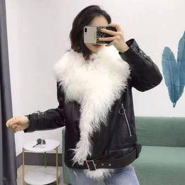 $enCountryForm.capitalKeyWord Australia - Real sheepskin coat with oversized mongolia Sheep Fur collar genuine leather jacket duck down filler parka thick warm overcoat