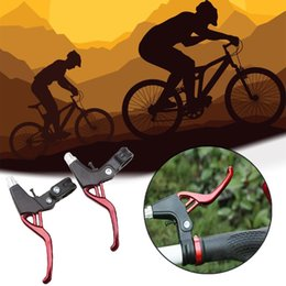 $enCountryForm.capitalKeyWord Australia - Lightweight Aluminum V-Brake Bicycle Brake Handle Mountain Bike Cycling Brake Levers 2-finger Bike Bicycle BMX 4 Colors