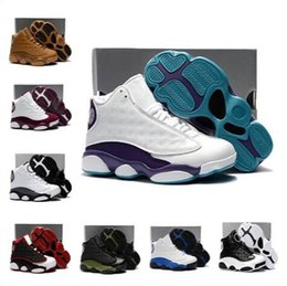 $enCountryForm.capitalKeyWord NZ - 2019 New J13s Children Kids Basketball Sneakers Shoes Wheat Hyper Royal Toddler Sneakers Olive Green Bordeaux 13s Trainers With Original Box
