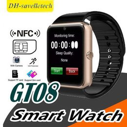 $enCountryForm.capitalKeyWord Australia - GT08 Smart Watch Bluetooth Mens Smartwatches For Android Smartphones SIM Card Slot NFC Health Watchs for Android with Retail Box