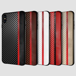 China For Iphone XR XS MAX X 8 7 6S plus cell phone case carbon fiber leather texture case cover for Samsung Galaxy S8 S9 S10 PLUS luxury cheap luxury covers suppliers