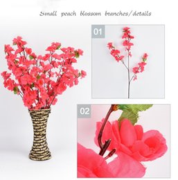 Red Yellow Party Decorations Australia - DHL Artificial Cherry Spring Plum Peach Blossom Branch Silk Flower Tree For Wedding Party Decoration white red yellow pink