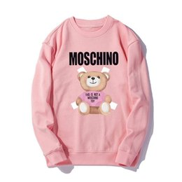 $enCountryForm.capitalKeyWord UK - Mos 2019 new spring fashion men and women with the same sweater with comfortable fabric butt teddy bear cute print