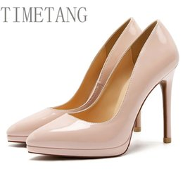 $enCountryForm.capitalKeyWord Australia - Timetang 11cm Fashion Classic Shallow Mouth Pointed Toe 5 Colors Shoes Women's Wedding&party Pumps Ol Concise High Heels Shoes