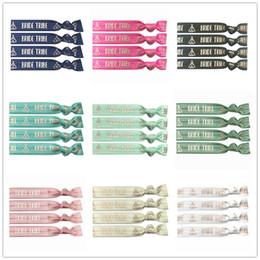 "$enCountryForm.capitalKeyWord Australia - 9 Colors 40pcs lot 5 8"" Bride Tribe Rose Gold Foil Fold Over Elastic Hair Band Hair Tie FOE Ribbon Bracelet Ponytail Holder Gift"