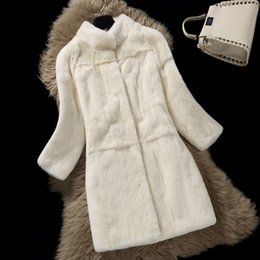 $enCountryForm.capitalKeyWord UK - Top Quality Natural Rex Fur Coats Outerwear Women Stand Collar 9 10 Sleeve Whole Skin Real Fur Jackets 2018 Autumn Winter