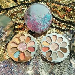 $enCountryForm.capitalKeyWord Australia - New makeup Quicksand Makeup Eye Palette 11 Color Glitter Eyeshadow Matte Shimmer Pigmented Eye Shadow Powder with mirror