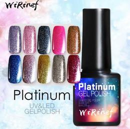 $enCountryForm.capitalKeyWord Australia - 9 pcs Lot 8ml 3D Glitter Platinum UV&LED Gel Nail Polish Semi-Permanent Colorful Shining Soak Off Gel Lacquer