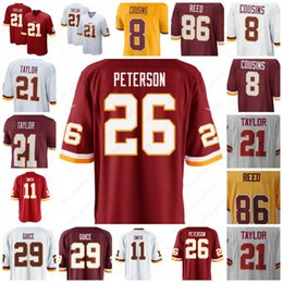 26 Adrian Peterson Washington Jerseys Redskins 21 Sean Taylor 11 Alex Smith  72 Eric Fisher 86 Reed 8 Kirk Cousins 29 Guice 95 Payne Stitched 85317079d