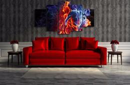 $enCountryForm.capitalKeyWord Australia - Flame Figures,5 Pieces Home Decor HD Printed Modern Art Painting on Canvas (Unframed Framed)