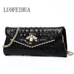 Discount new trend handbag - LUOFEIHUA 2019 new fashion trend crocodile chain handbags Leather shoulder messenger bag Leather clutch bag