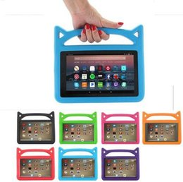 eva foam cover NZ - Kids Handle EVA Foam Shock Proof Kid-Proof Tablet Cover for iPad Mini 123 4 Air 5 6 New ipad 2017 2018 Kindle Fire 7 Cute Devil