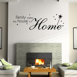 Family quote decals online shopping - Hot Sale Wall Stickers Home Family Letter Quote Removable Vinyl Decal Art Mural Home Decor Wall Stickers For Living Room