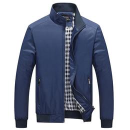 $enCountryForm.capitalKeyWord Australia - Drop Shipping Men Light Weight Jacket Inner Plaid Print Men Casual Jacket 2019 Spring Slim Fit Bomber