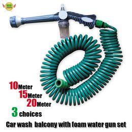 $enCountryForm.capitalKeyWord Australia - Car Spring telescopic hose garden watering flower wash balcony car wash gun With cleaning box
