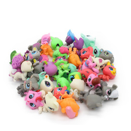 Wood Animal Figured Toys NZ - New Style Lps Bag 32pcs bag Little Pet Shop Mini Toy Animal Cat Patrulla Canina Dog Action Figures Kids Toys Q190605