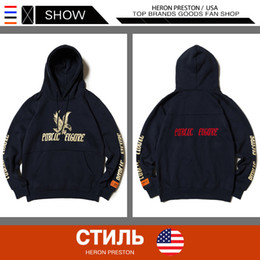 Hoodie mens logo online shopping - The European and American Popular Logo HERON PRESTON Hoodies Mens Luxury Designer Clothes Letters Embroidery Casual Sports Hoodies